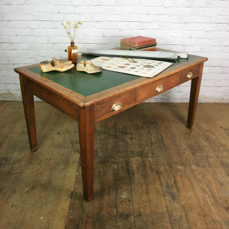 Sell My Antique Furniture: Antique Edwardian Vintage Oak Library Table Desk