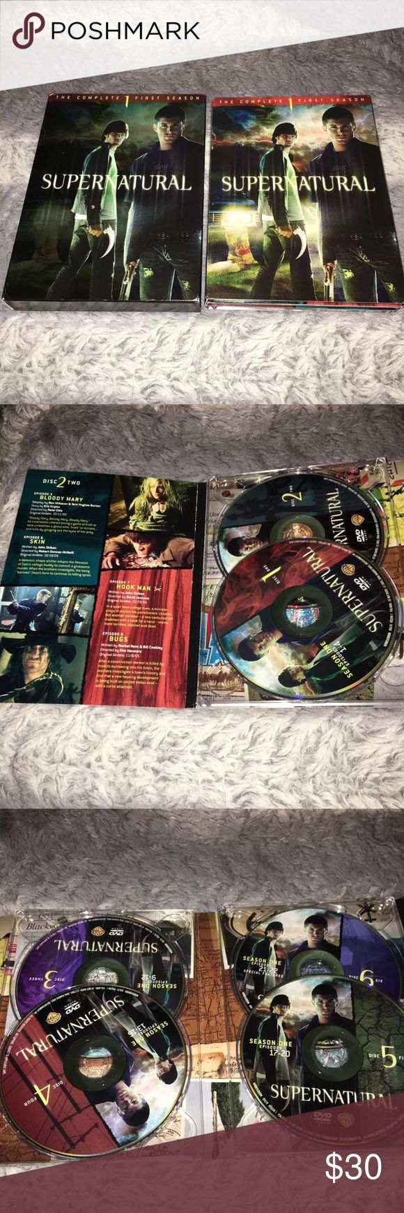 Completed First Season Of Supernatural All episodes of season one on disc   All discs in very good condition Other