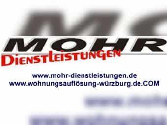 Wohnungsauflösung in Würzburg und Umgebung - mit MOHR Dienstleistungen - seit 2003