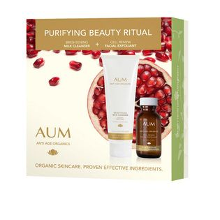 AUM Purifying Beauty Ritual Pack - $34.95. Deeply cleanse, exfoliate and purify to reveal your most radiant skin.   Purifying is the most important step in any beauty program. Cleansing prepares the skin to absorb treatments and moisturisers by removing impurities that may act as a barrier. Dead cells and dirt are whisked away, giving your skin greater clarity.