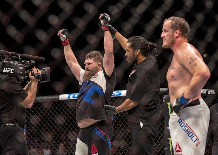 Video: Watch Roy Nelson Kick John McCarthy's Butt After Knockout - http://www.lowkickmma.com/mma-videos/video-watch-roy-nelson-kick-john-mccarthys-butt-after-knockout/