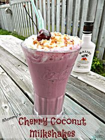 Adult milkshake- cherry coconut