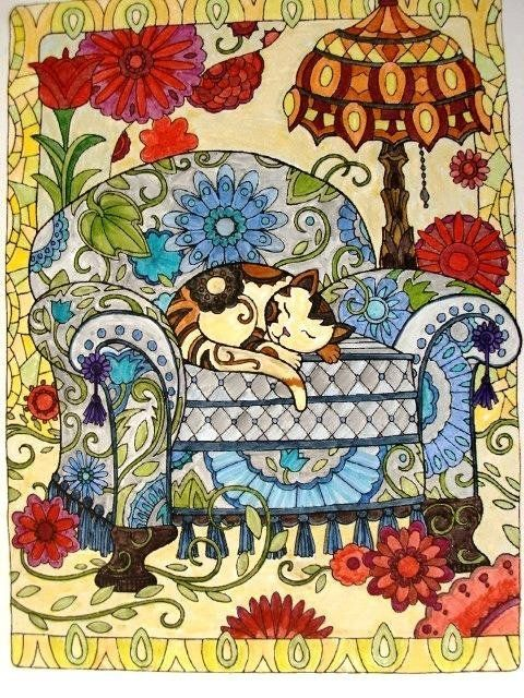 Creative Haven Cats Coloring Book Books Marjorie Sarnat