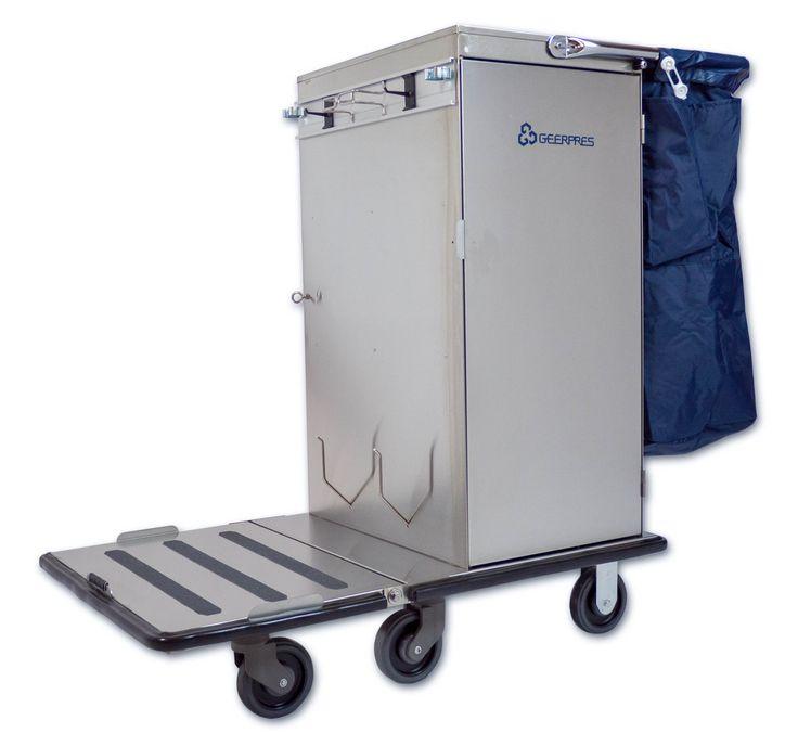 Geerpres 3805 Odyssey Stainless Steel Housekeeping Cart