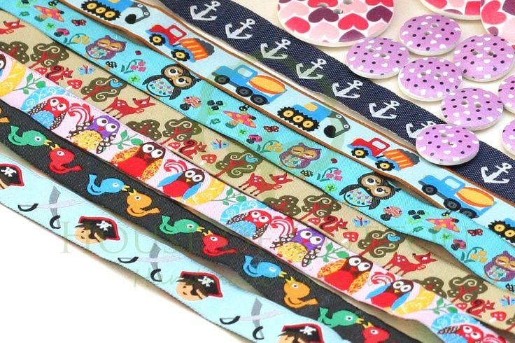 Tasiemki - końcówki tkaniny bawełniane na metry sklep