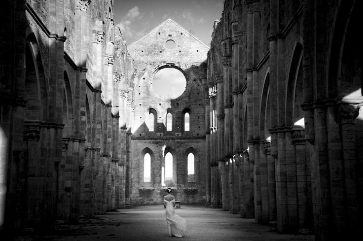 #Wedding in San Galgano Abbey near #Siena, #Tuscany.  #WeddingPhotography