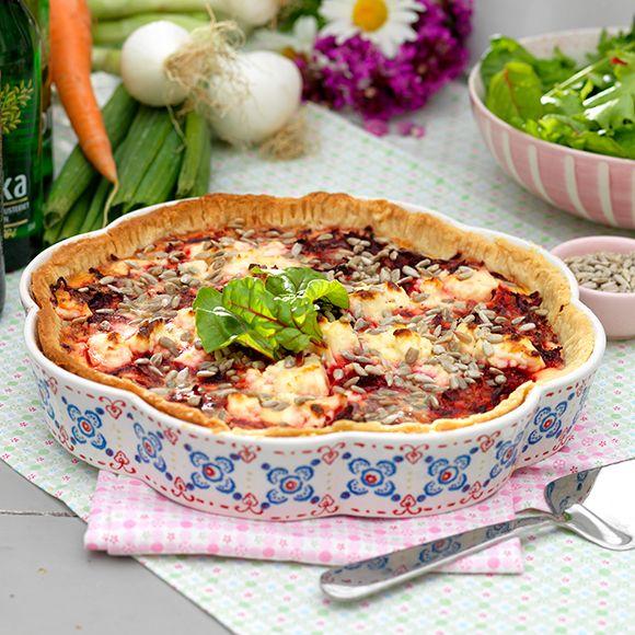 Recept på Rödbetspaj med fetaost från - Hemmets Journal