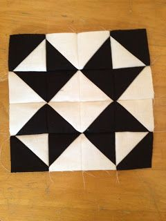 knit 'n lit: Modern Half-Square Triangle Quilt-a-Long Block 17