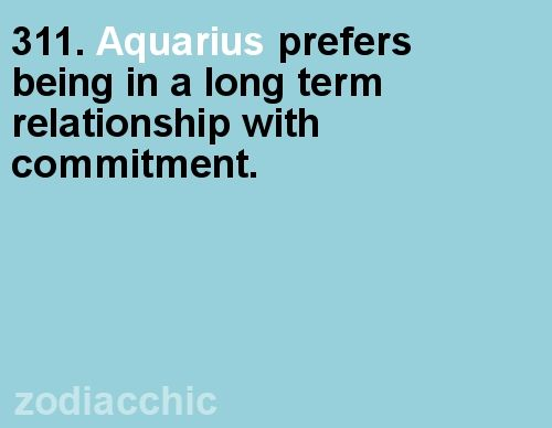 Aquarius commitment