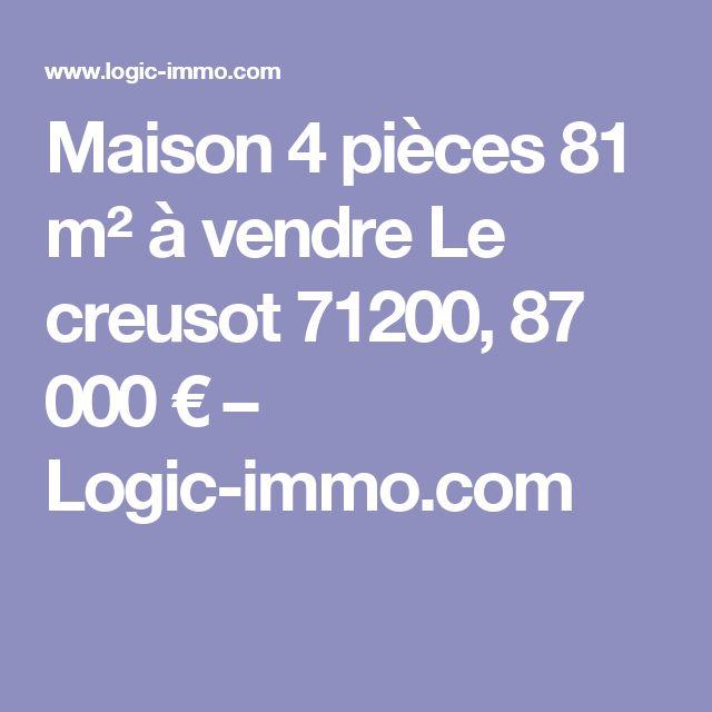 Maison 4 pièces 81 m² à vendre Le creusot 71200, 87 000 € – Logic-immo.com