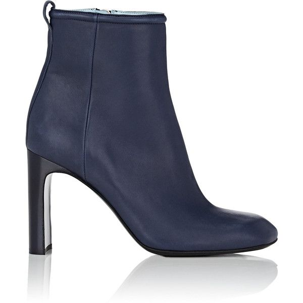 Rag & Bone Women's Ellis Leather Ankle Boots (34.660 RUB) ❤ liked on Polyvore featuring shoes, boots, ankle booties, ankle boots, navy, navy booties, navy bootie, short leather boots and high heel bootie