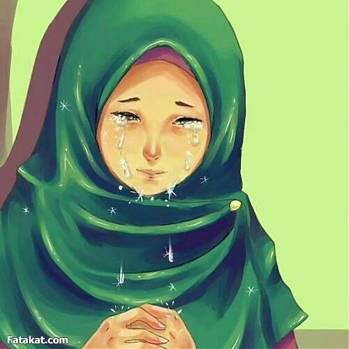 Hijab anime muslima mohajabbah islam cartoon crying dua