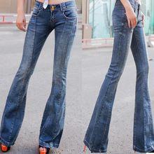 Calça jeans de cintura alta breasted fêmea queimado calças calças de pernas largas calças casuais calças jeans plus size alishoppbrasil