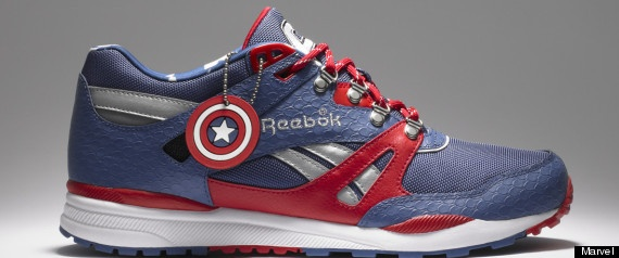 Marvel Reebok Sneakers -- Quien quiere unos?Geek, Running Shoes, Captainamerica, Marvel Shoes, Captain America, Marvel Comics, Emma Frostings, Sneakers, Reebok
