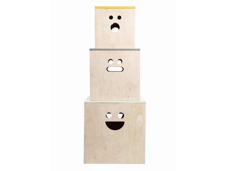 Coffres de rangement 'sourires'