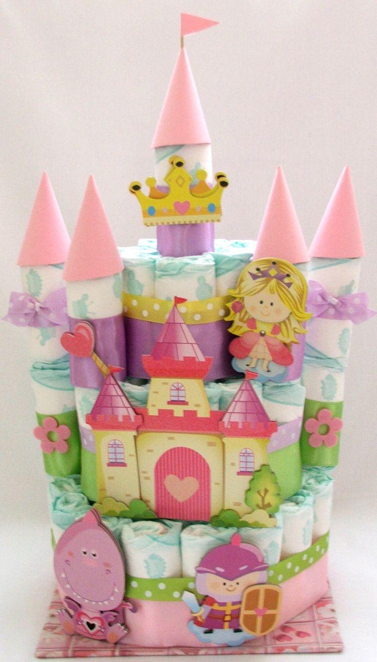 Plienková torta Zámok pre malú princeznú