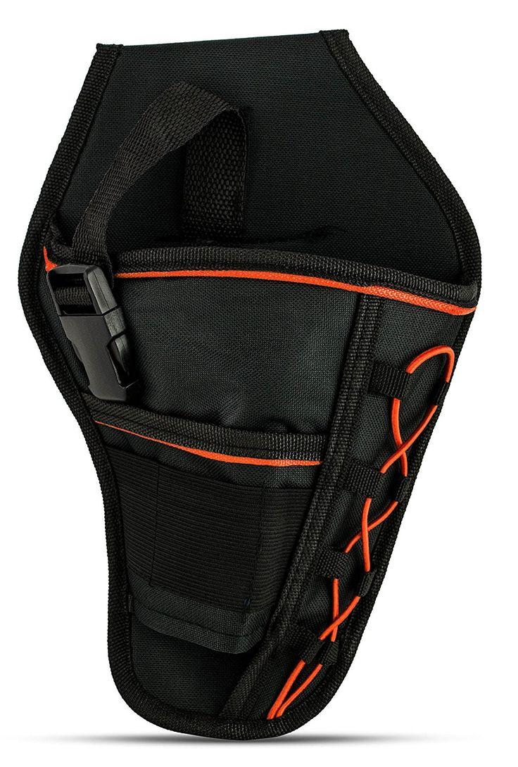 Universal Drill Holster (Orange) Belt storage, Drill, Black