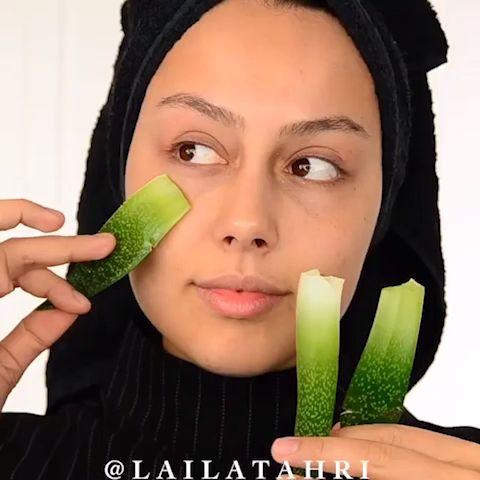 aloe vera skincare tutorial  makeup removal process
