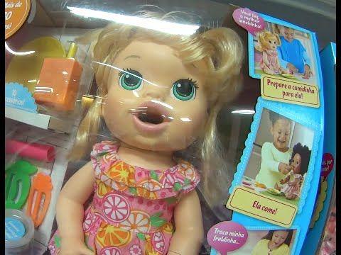Baby Alive boneca brinquedo Comilona Cabelos Fashion Hora do Chá Hora do...