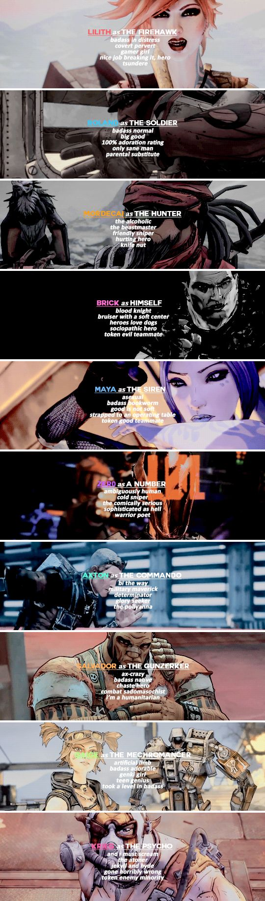 Borderlands Gen 1&2 Vault Hunters → TvTropes