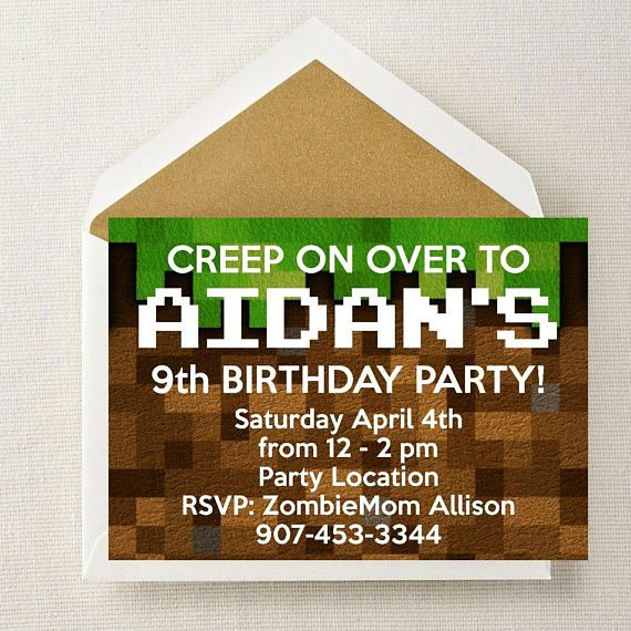 Best 25+ Minecraft invitations ideas on Pinterest Mind craft - mine craft invitation template