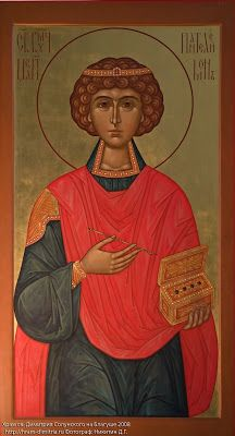 St. Panteleimon the Great Martyr and Unmercenary icon (http://pravicon.com/images/sv/s1660/s1660029.jpg)