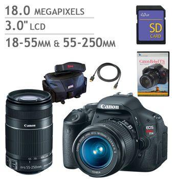 All I want for Christmas. Canon Rebel T3i DSLR Camera 2 Lens Bundle/Costco