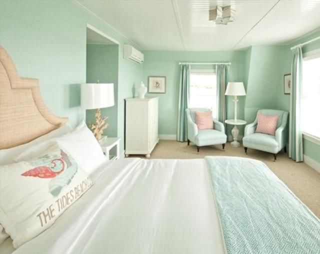 Soft -- But Not Too Sweet -- Pastels are Perfect in the Master Bedroom: Pastel Coastal Style