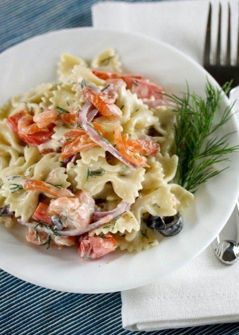 Smoked Salmon PastaSalad  - whole foods copycat