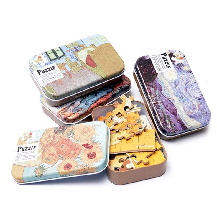 Wooden Jigsaw Puzzles 60 pcs Van Gogh Paintings & Fairy tales 8 Kinds with Iron Boxes Educational Toys for Baby Early Learning-in Puzzles from Toys & Hobbies on Aliexpress.com | Alibaba Group