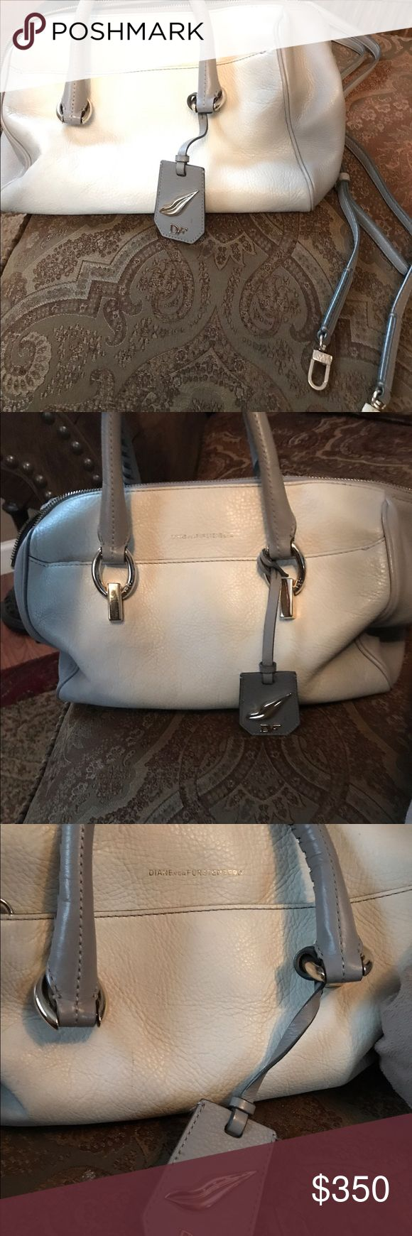 Dian Von Furstenberg Handbag Immaculate condition authentic its sample so not used creme and tan Handbag and comes with strap for shoulder bag and Diane Von Furstenberg manufactures her handbags from China Diane Von Furstenberg Bags Satchels