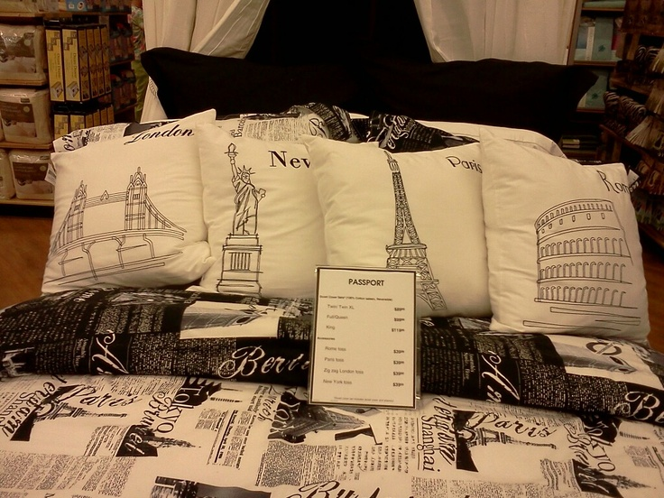 Paris London New York Rome Bedding From Bed Bath And