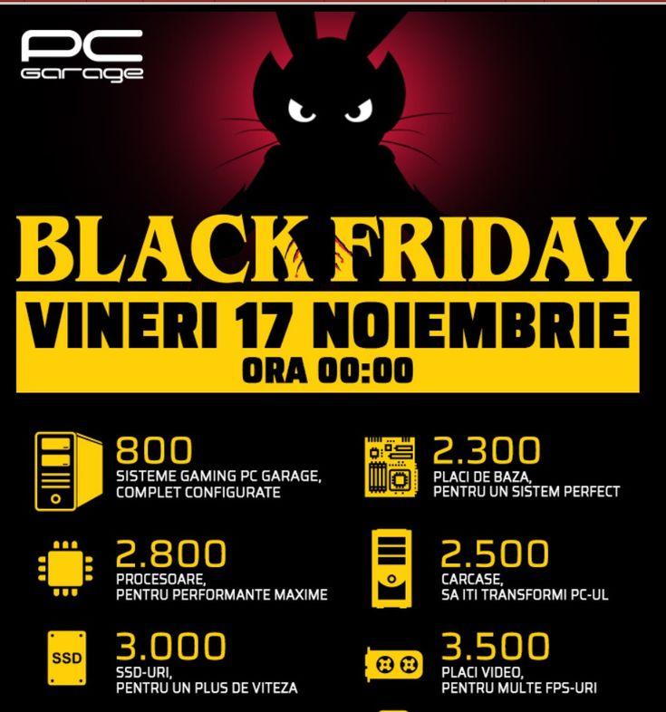 Catalog PC Garage Black Friday 17 Noiembrie 2017! Aboneaza-te la newsletter-ul PC Garage si nu rata ofertele de Black Friday din 2017!