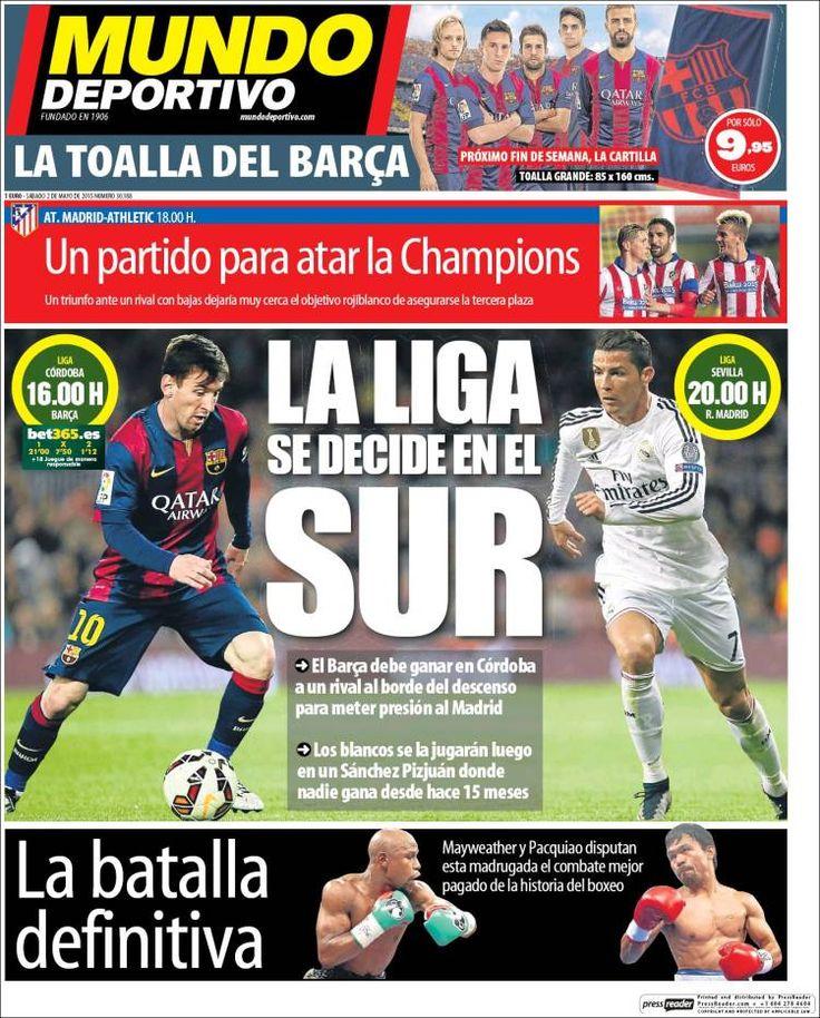 Portada Mundo Deportivo 2/05/2015