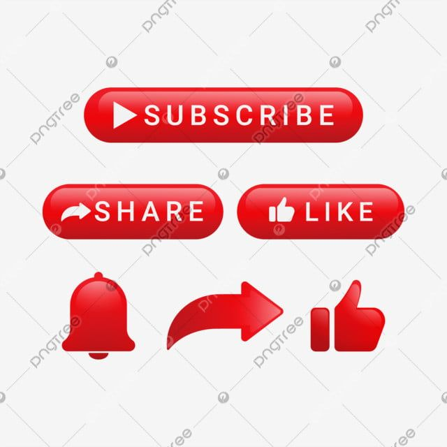 Subscribe Button With Share And Notification Subscribe Button Share Png And Vector With Transparent Background For Free Download Youtube Banner Backgrounds Youtube Banners Youtube Design