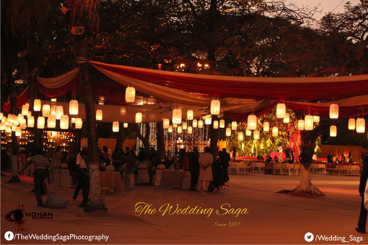 Dim Lanterns add a perfect blend for evening wedding ceremonies. #TheWeddingSaga #MohanColorLab #WeddingDecor