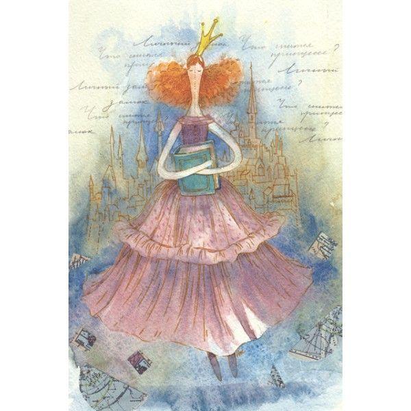 Princess dreams. Castles. - Postcards, Watercolor