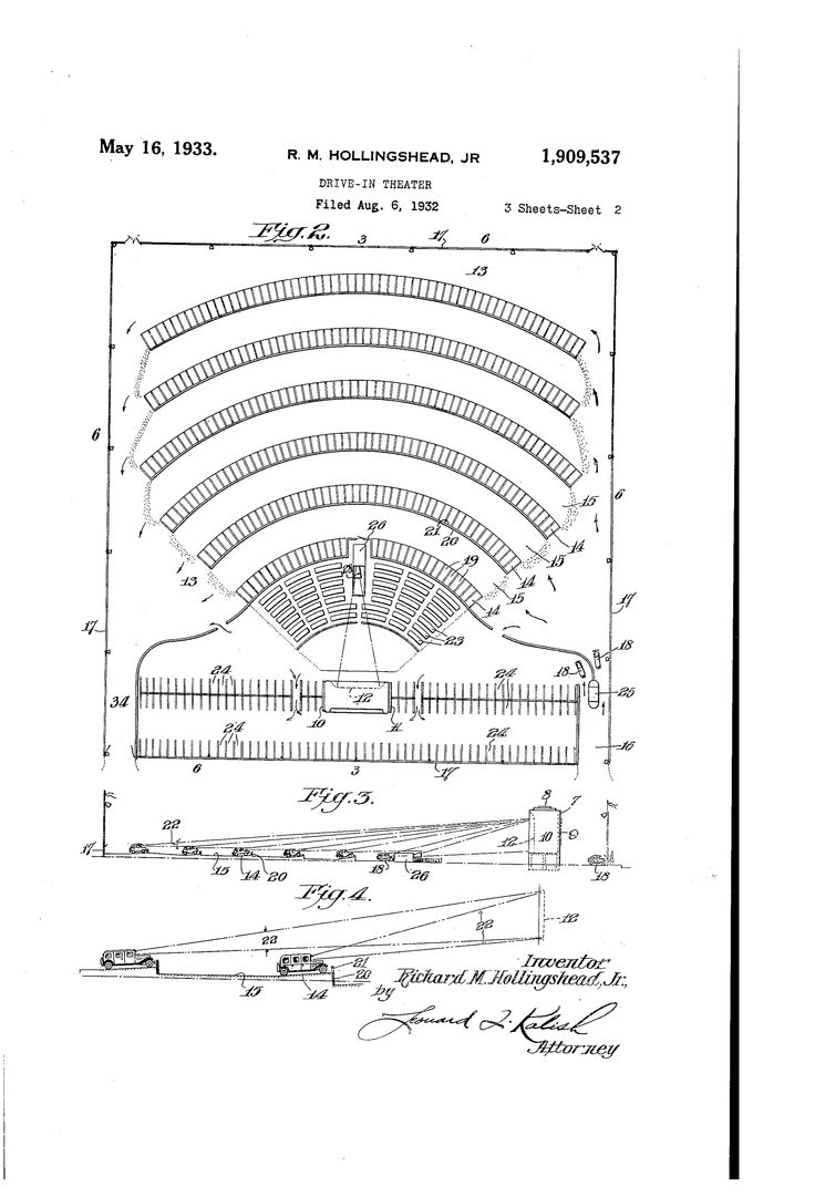 Drive-In Patents -  Here's something that a lot of drive-in theatre fans probably haven't thought much about, the actual patents themselves.    This Pin links to Google's Patent Search for drive-in theatre. You can also type in other search terms for different results such as, drive-in speaker, concessions, projector, drive-in heater etc.  See the actual patent description, drawings and when granted. Some interesting stuff here, not just drive-ins, but anything and everything.