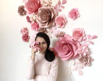 Set de bebé habitación flores de papel  flores de papel para