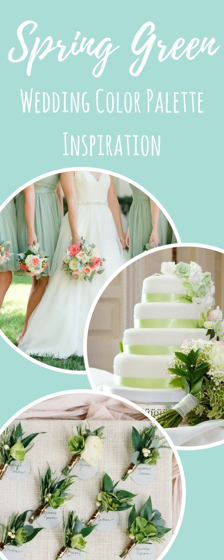 Wedding Color Palette Inspiration: Spring Green   Gorgeous Wedding Motif Inspiration.