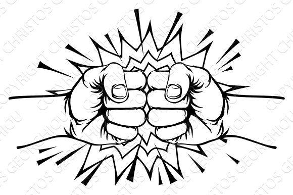 Fist Bump Punch Fist Bump Hand Fist Drawing Fist
