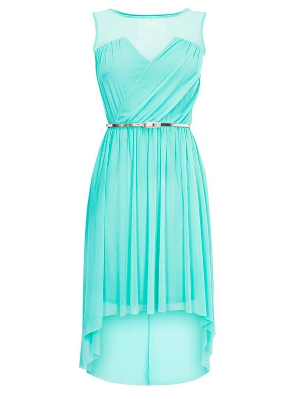 f24e96317821 I want my bridesmaids to wear tiffany blue high low dresses (  maybe a  little more formal then this though (