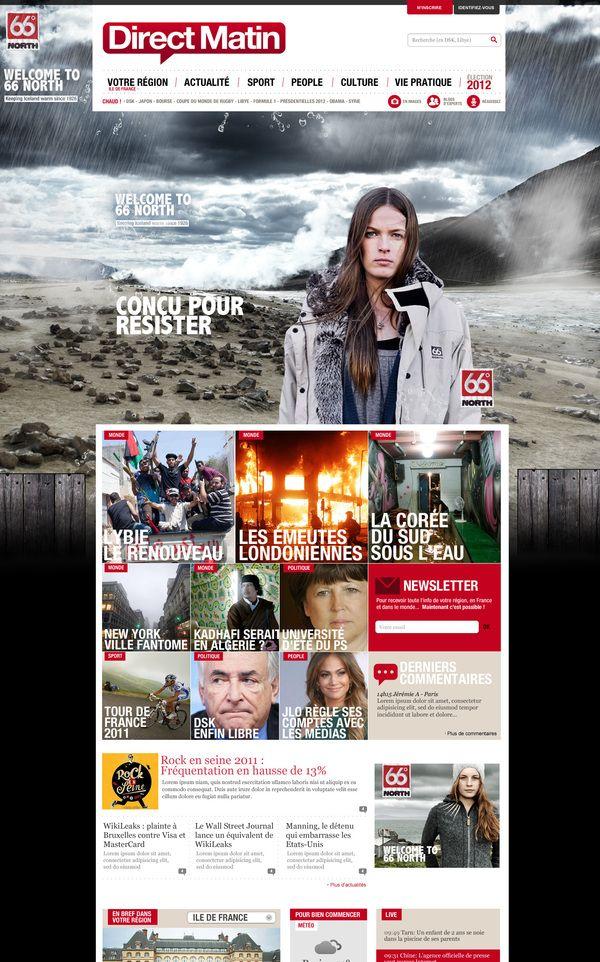 Best Web Design Inspiration 2012 Direct Matin