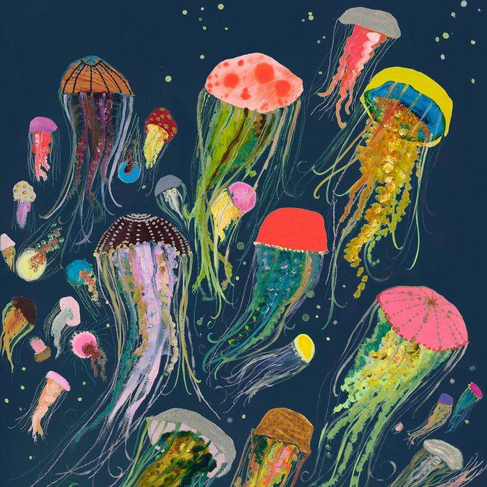 Best 20 jellyfish art ideas on pinterest watercolor for Jelly fish art