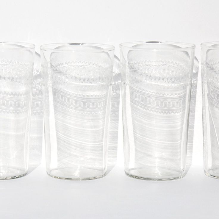 Etched Water Tumblers