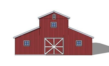 Monitor style barn kit horse barn plans barn building for Monitor style pole barn
