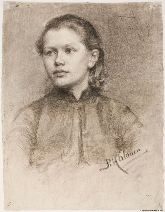 The Athenaeum - Portrait of a Young Woman (Pekka Halonen - )