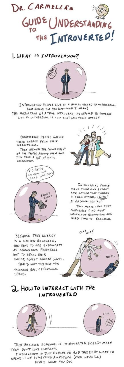 This is me. And I am so happy to read this explanation so I don't feel like I'm so abnormal!   A simple explanation of how to interact with introverts...