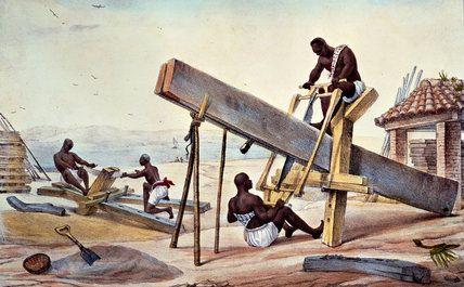 Negro Woodcutters by Jean Baptiste Debret (1768-1848, France)