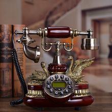 Teléfono teléfono antiguo teléfono de estilo Chino conjunto rural europeo pantalla de llamada de teléfono